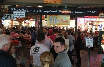 Portillo's Hot Dogs - Chicago, IL. The line