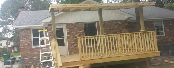 A deck I built on Avant Dr