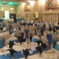 Edgemont Caterers - Philadelphia, PA. The tables in our banquet room beautifully set in blue!