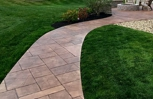 Stamped walkway, (Vermont Slate)