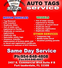 Auto Tags of Florida Services 1470 North Federal Highway