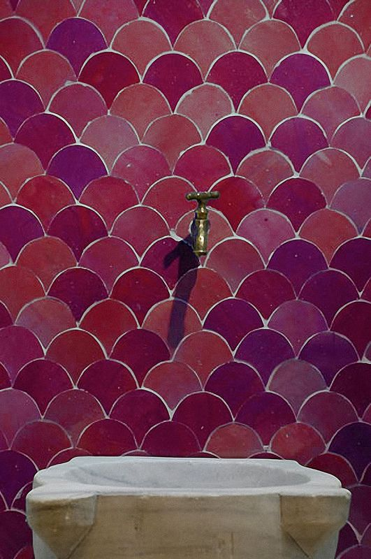 Moorish Architectural Design Evelyn Way San Francisco CA - Carrelage écaille de poisson
