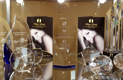 Perfect Body Laser & Aesthetics - Bay Shore, NY. waiting room awards and price lists