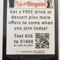 026 Pub & Biergarten - Fenton, MO. Text 026 to 51660 for a FREE drink or dessert plus more OFFERS to come when you join today!