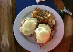 North End Bar & Grill - Hermosa Beach, CA. Eggs Benedict