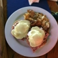 North End Bar & Grill - Hermosa Beach, CA. Eggs Benedict