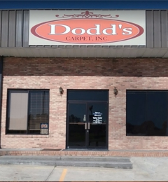 Dodds Carpet Inc - Calhoun, GA. Front Door of Dodd's Carpet & Hardwood