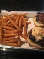 Big Pig Burger with homemade pimento cheese and jalapenos....da bomb.