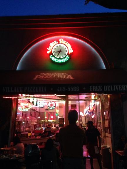 Village Pizzeria - Los Angeles, CA. Front of restaurant