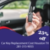 Car Key Replacement Cost Houston TX