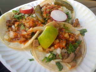 Tacos from the San Buena Truck