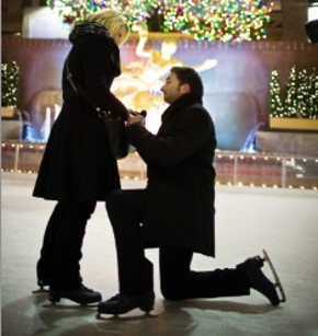 Valentine's Day Engagement Dinners at the Rink at Rockefeller Plaza in New York, NY