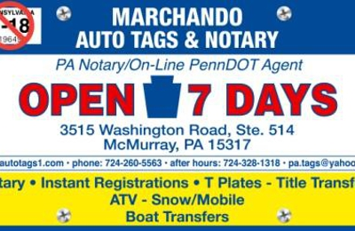 L Machando Auto Tags & Notary - McMurray, PA