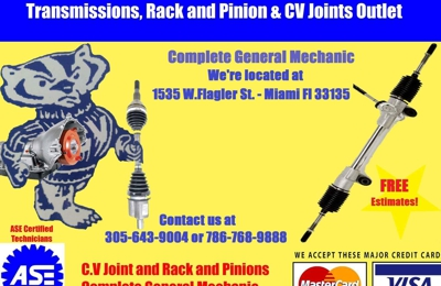 Transmissions Rack & Pinions and CV Joints Outlet - Miami, FL