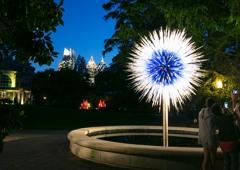Atlanta Botanical Garden - Atlanta, GA. Chihuly artwork at night
