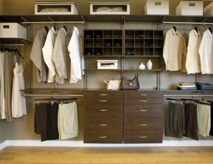 Reach-In Closet in chocolate from Organize-It