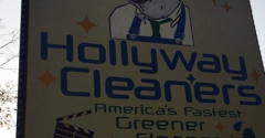 Hollyway Cleaners - West Hollywood, CA. Signage on Santa Monica Blvd