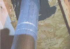 Rapid Roofers - Atlanta, GA. Real Photo of my attic ceiling