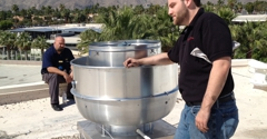 Redline Fire Protection - Cathedral City, CA. New exhaust fan install