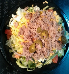 A Slab and More BBQ - Demopolis, AL. Their salads are delicious!!!