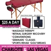 MASSAGE TABLE RENTAL CHARLOTTE-RALEIGH-GREENSBORO $25 A DAY
