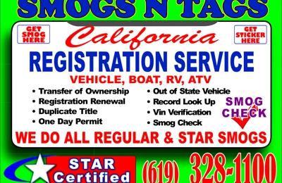 SMOGS N TAGS - Santee, CA