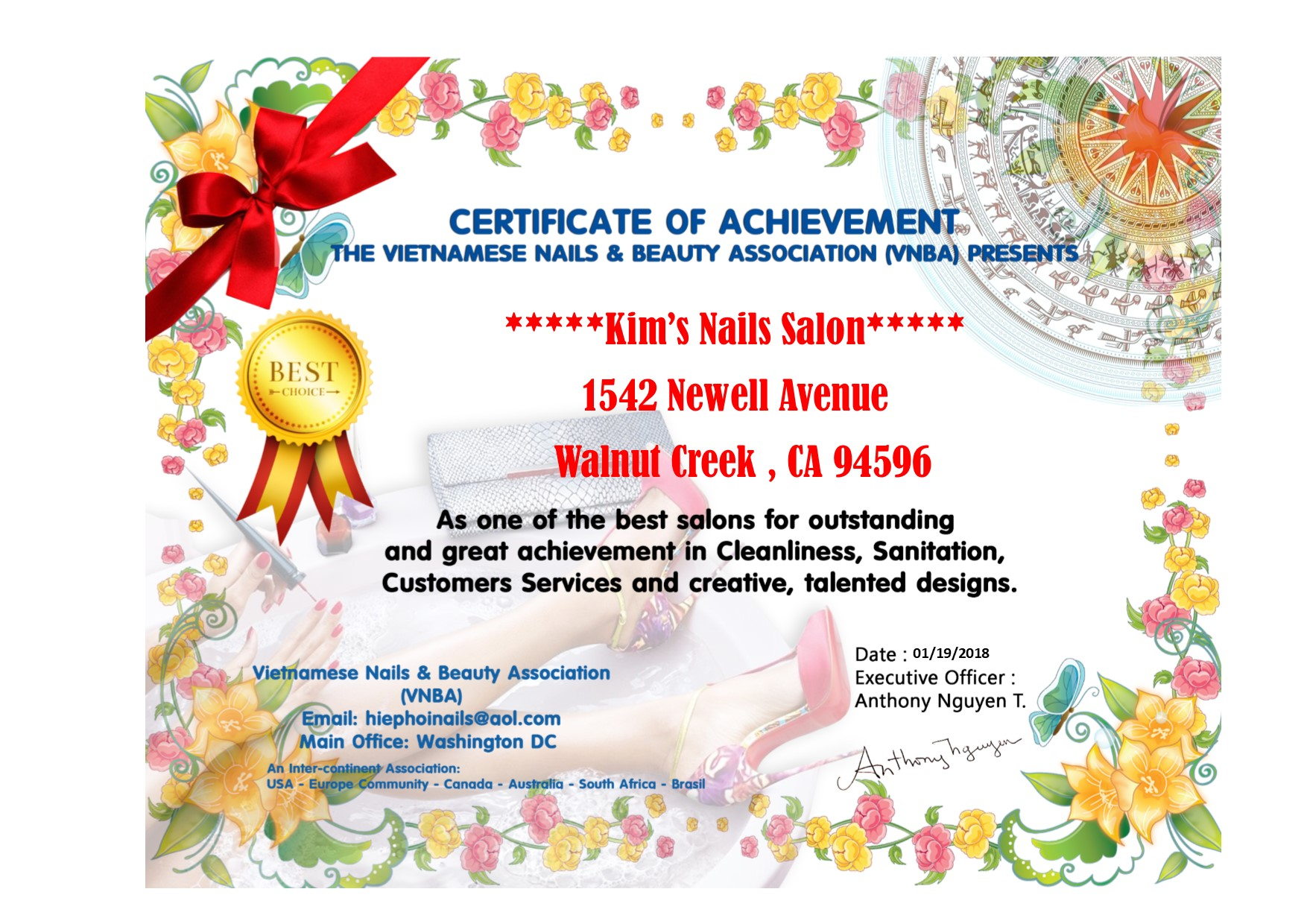 Kim\'s Nails Salon 1542 Newell Ave, Walnut Creek, CA 94596 - YP.com