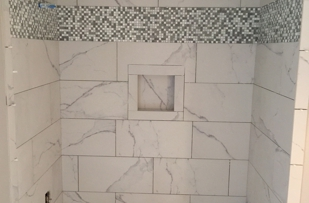 Before I grouted my shower!  Tile work is amazing.