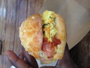 Ham, Egg, and Gruyere on Brioche at The Little Tart Bakeshop in Atlanta, GA