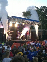 Go Fish in concert in Shannon, IL.