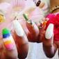 Golden Nails - Chicago, IL. Rainbow summer nail!