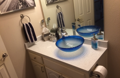 Go-Granite.com - Lake Dallas, TX. Finally rid of the seashell looking sinks that the builder put in