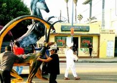 Mexico Lock & Key & Door Repair - Los Angeles, CA. Oaxaca parade day I  front of Mexico Lock & Key