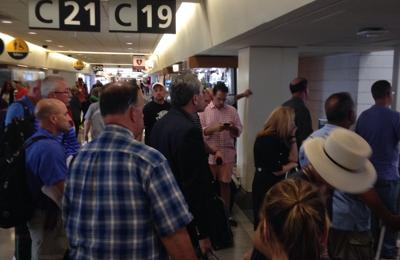 PHL - Philadelphia International Airport - Philadelphia, PA. Crowded terminal C