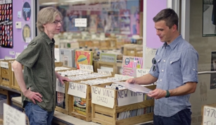 Hugh Acheson shops at Fantasyland Records for vinyl, LPs, CDs used and new