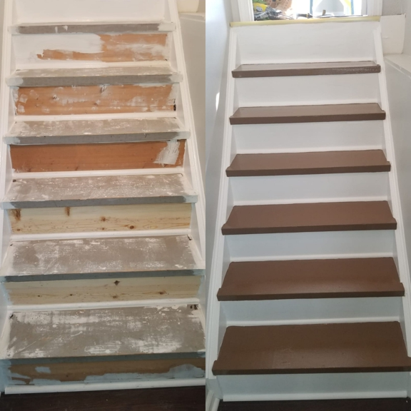 Jose's painting and Handyman services - Cincinnati, OH. Stairs painting