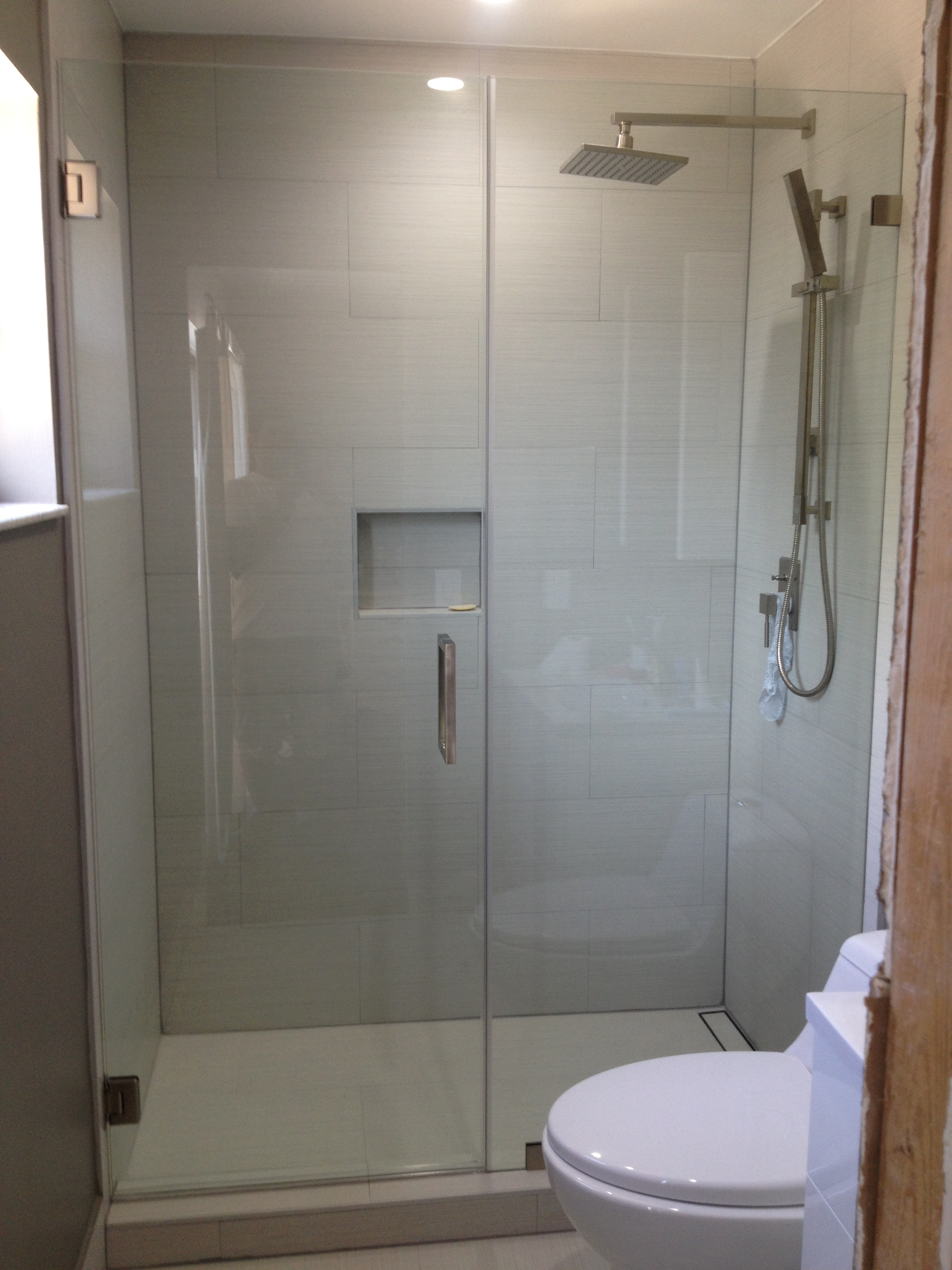 frameless in new custom installation jersey specialists allied mirror doors glass shower door nj bathroom