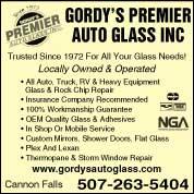 Gordy's Glass Inc 2134 Vermillion St, Hastings, MN 55033