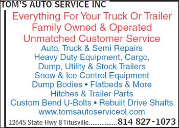 Tom's Auto Service Inc Titusville, PA 16354 - YP.com