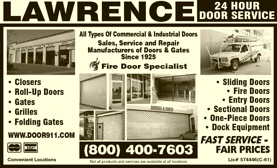 Lawrence Doors  sc 1 st  Yellow Pages & Lawrence Doors 2416 Bedessen Ave Commerce CA 90040 - YP.com