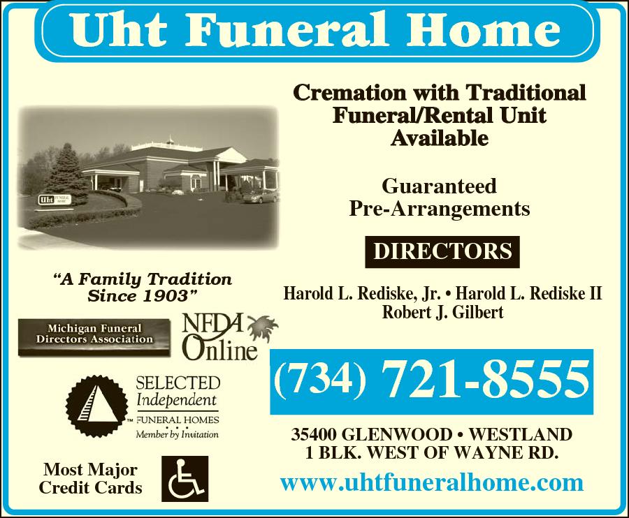 Uht Funeral Home 35400 Glenwood Rd Westland Mi 48186 Yp Com